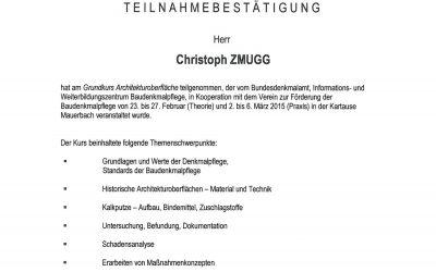 Teilnahmebestätigungen-Malerbetrieb-Zmugg_Bundesdenkmalamt-Mauerbach-1